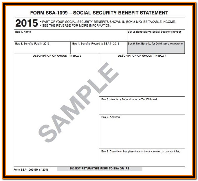 Irs Form 1099 Ssa