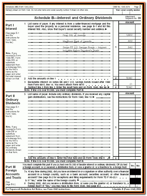 Irs Schedule B Form 1040 Instructions Archives Croprodive Pertaining To Form 1040 Schedule B