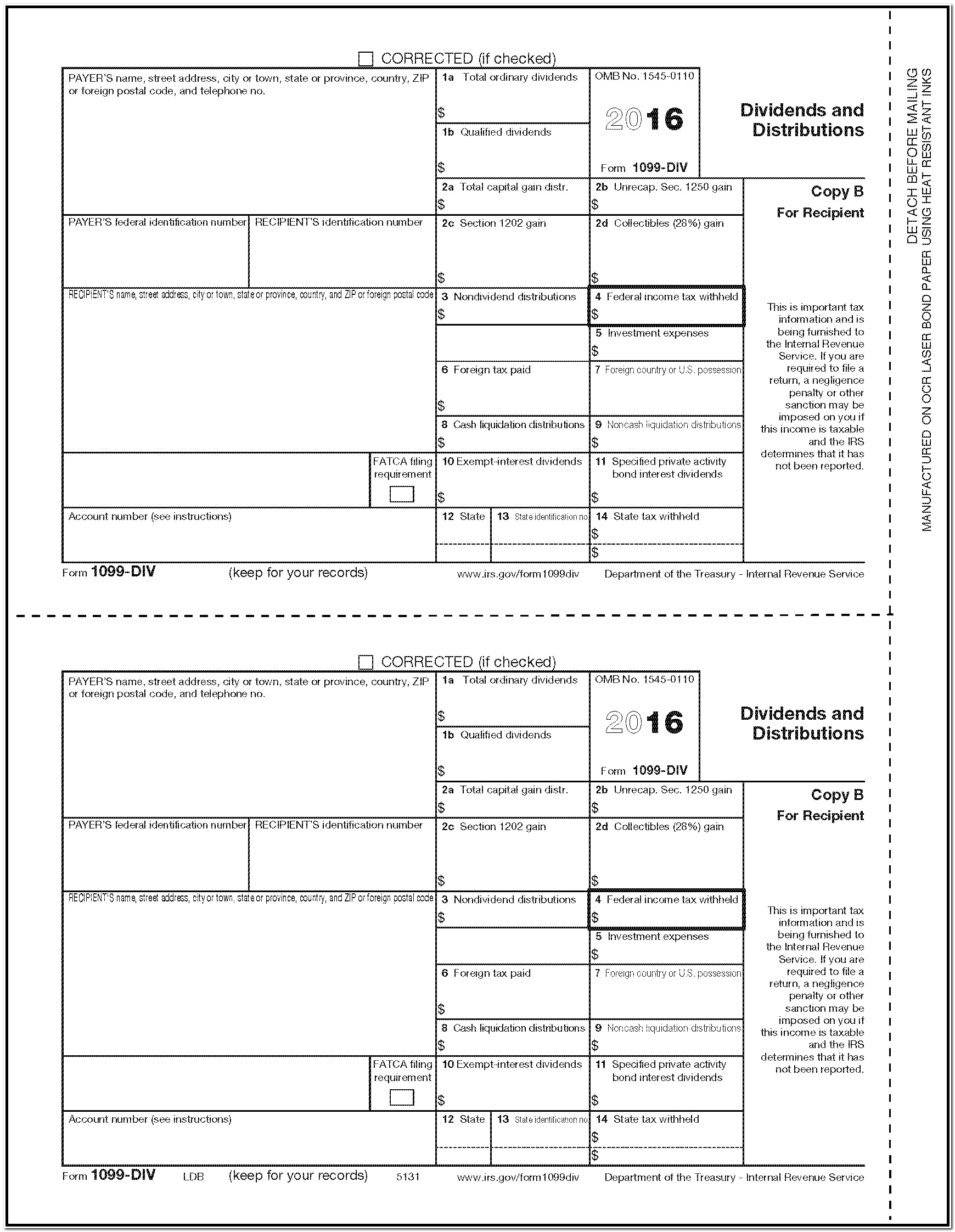 1099 Form Independent Contractor 2017
