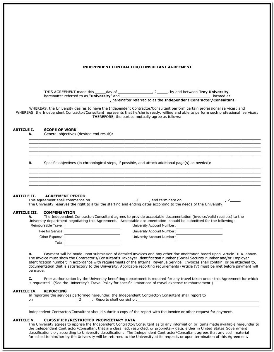 1099 Form Independent Contractor 2018