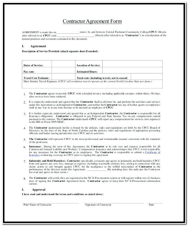 1099 Form Independent Contractor Printable