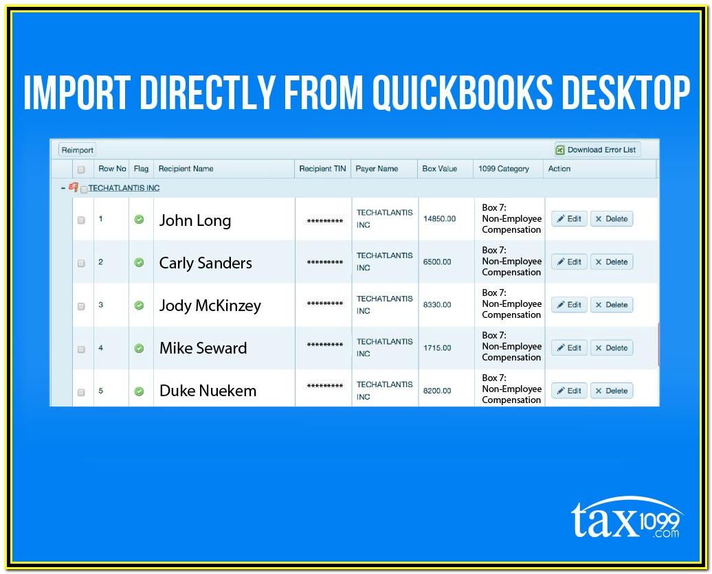 1099 Forms For Quickbooks Desktop
