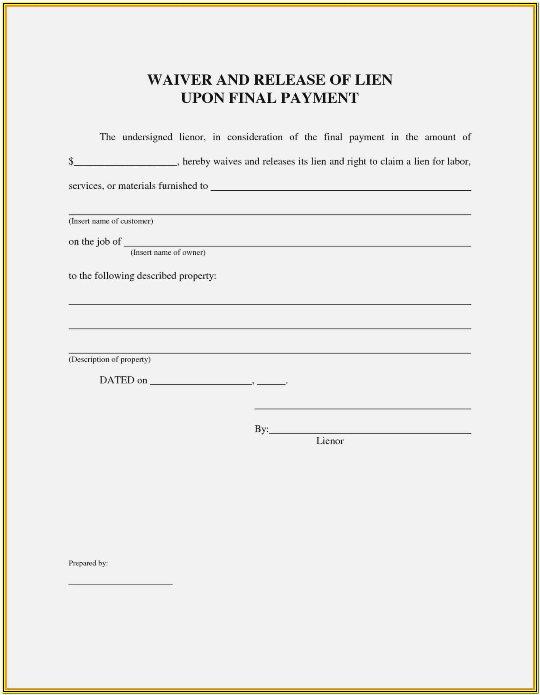 California Mechanics Lien Bond Form