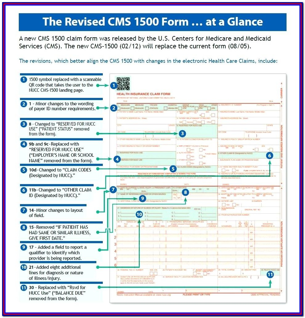 Cms 1500 Form Pdf Template