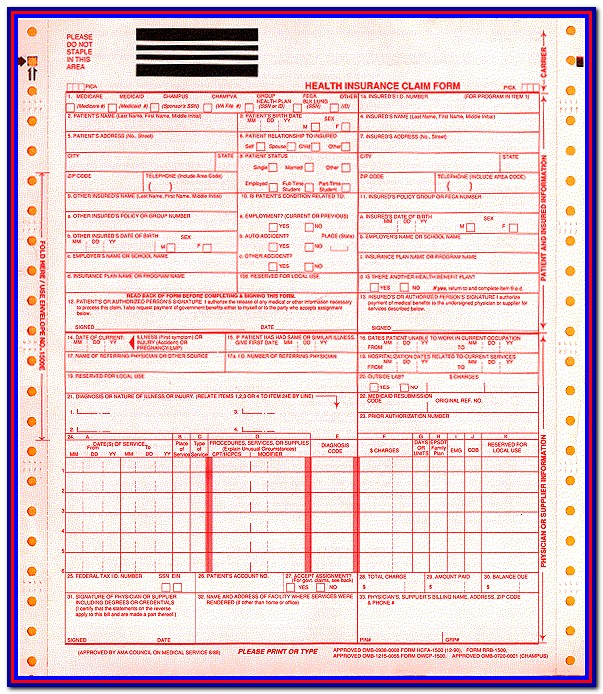 Download Hcfa 1500 Form Pdf