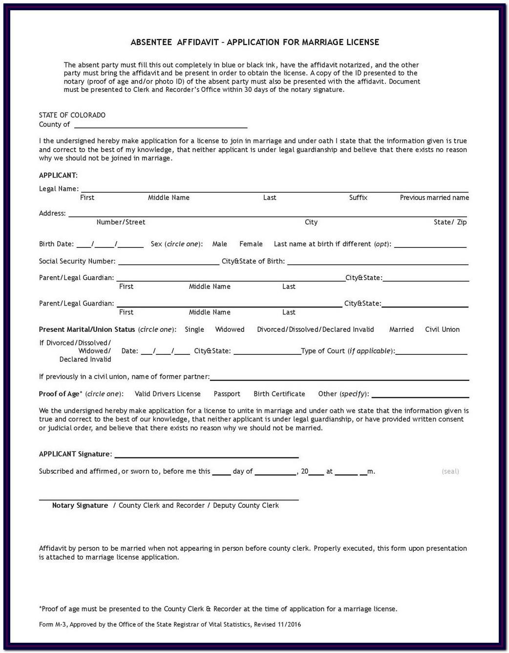 Florida Divorce Forms Financial Affidavit