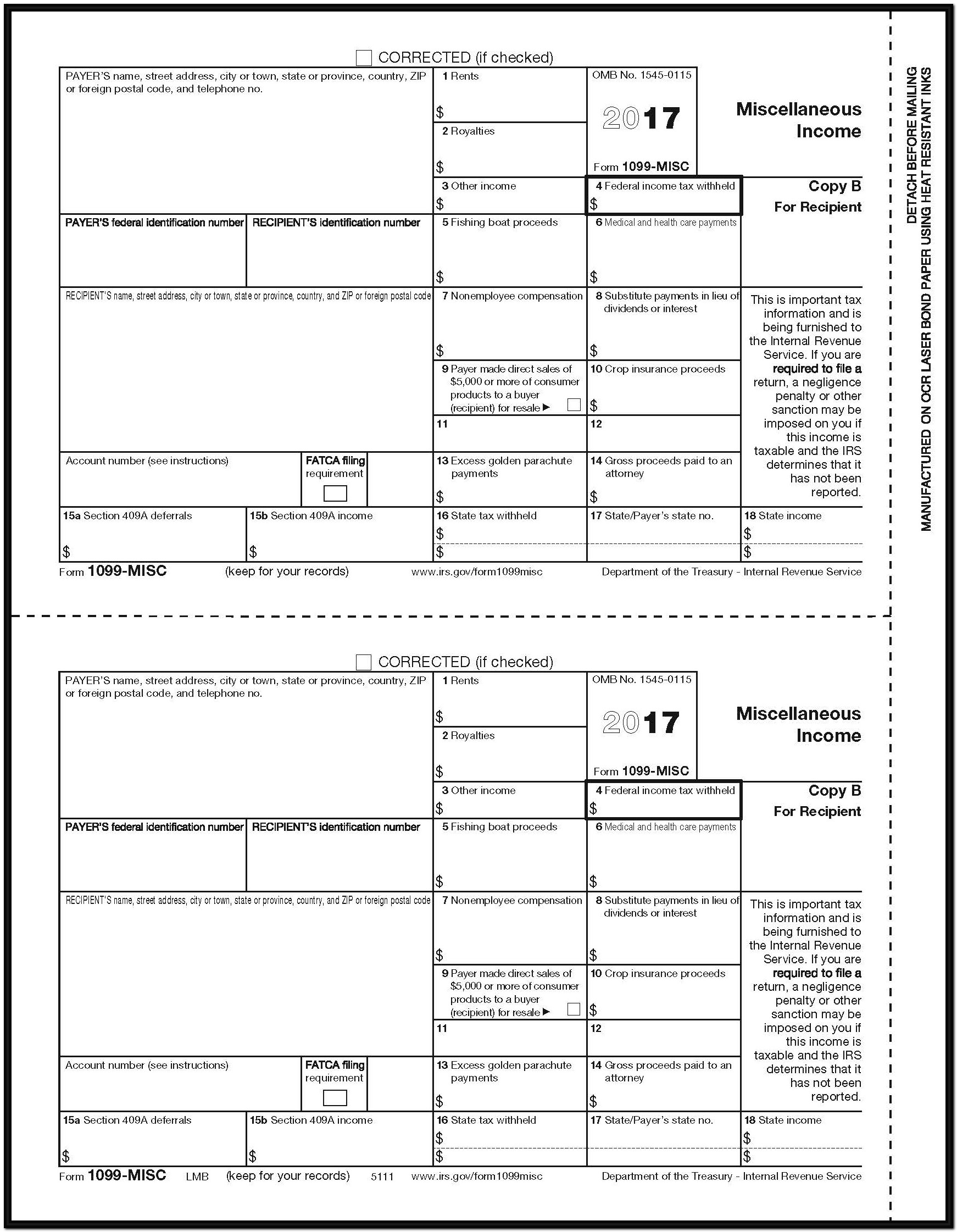 Form 1099 Miscellaneous