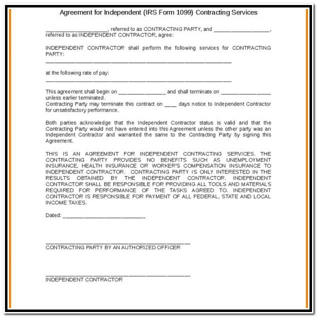 Free 1099 Form Independent Contractor