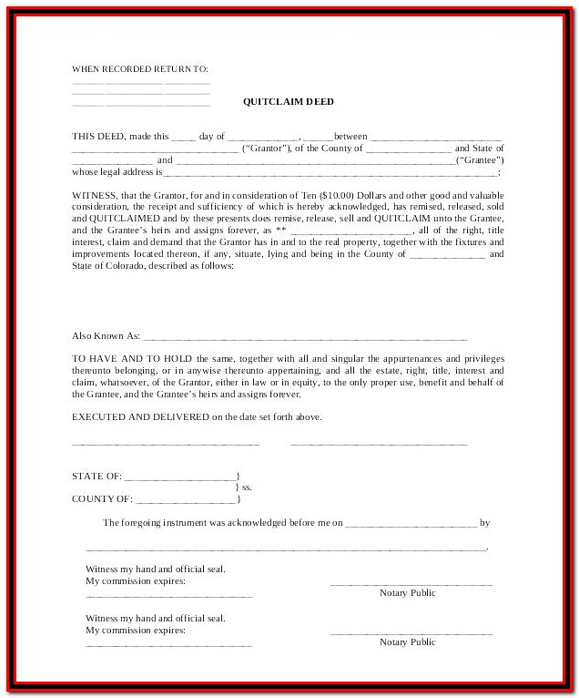 Grant Deed Form Texas