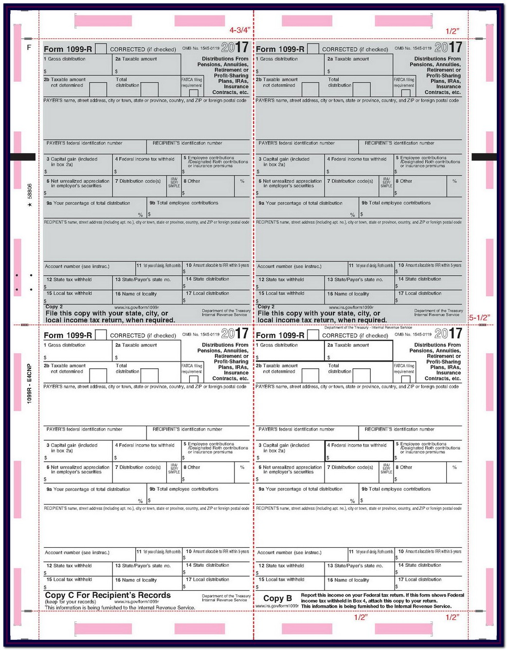 Irs Forms 1099 For 2018