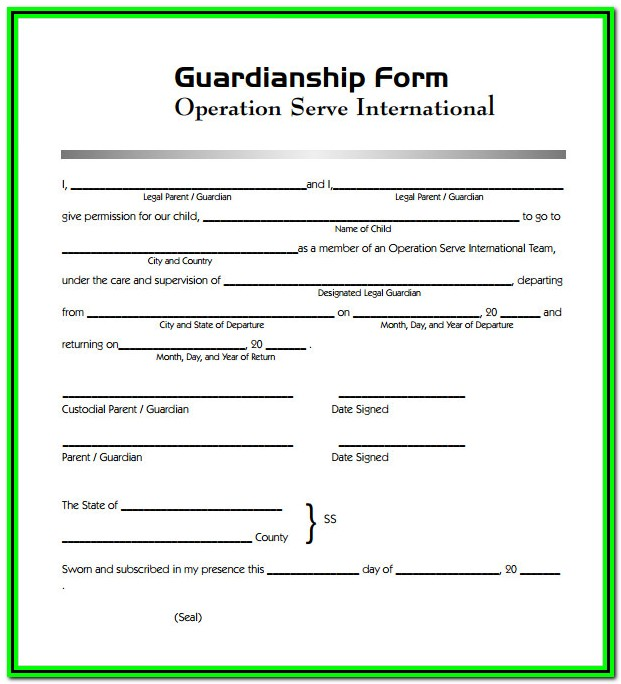 Legal Guardianship Forms Texas