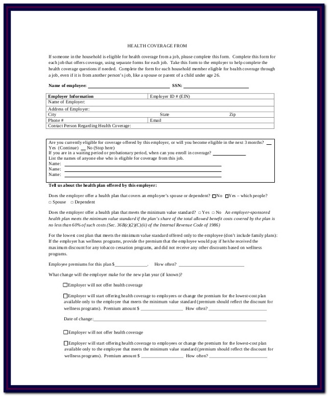 Medicaid Application Form Ny