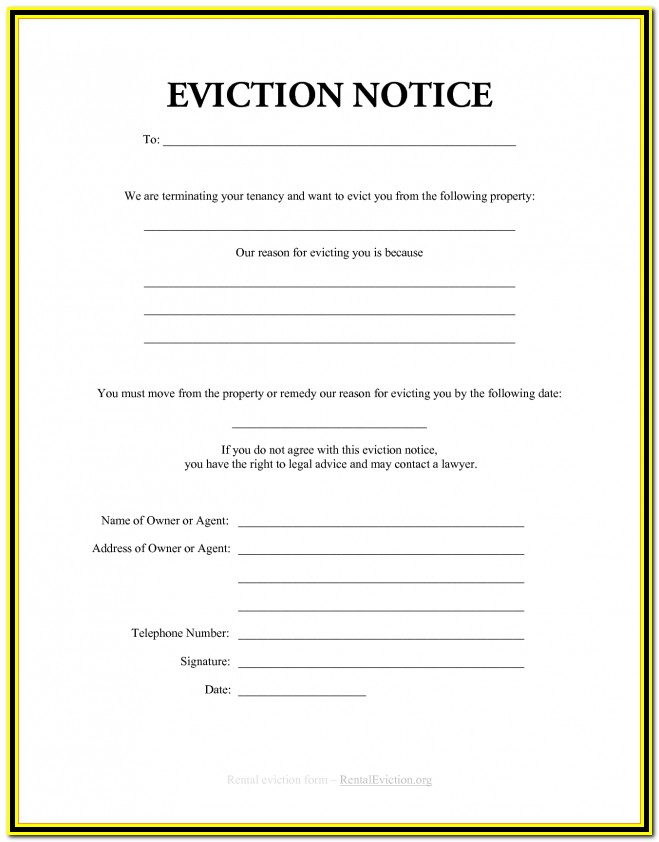 Notice Of Eviction Form California