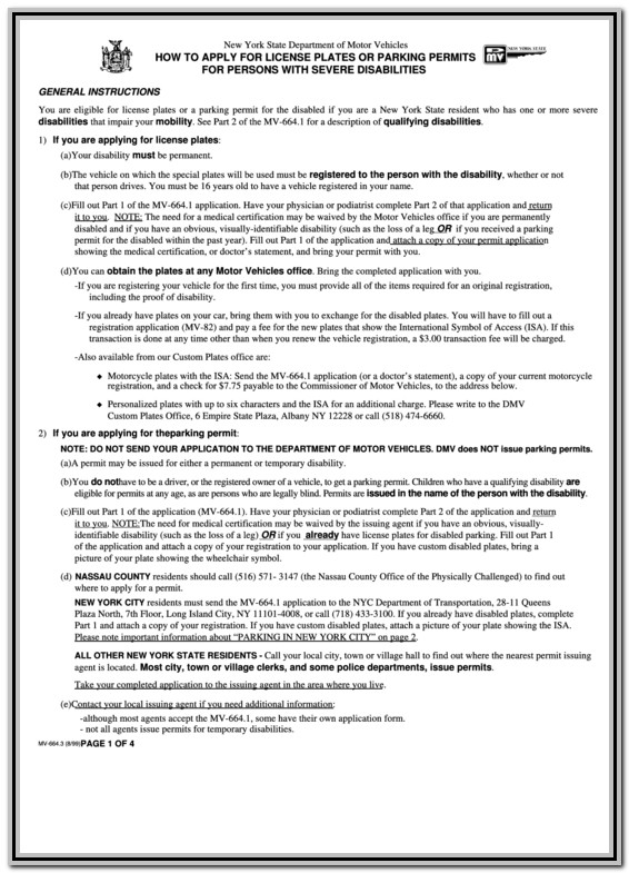 Nys Disability Form Part C