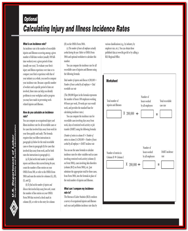 Osha 300a Form Fillable Pdf