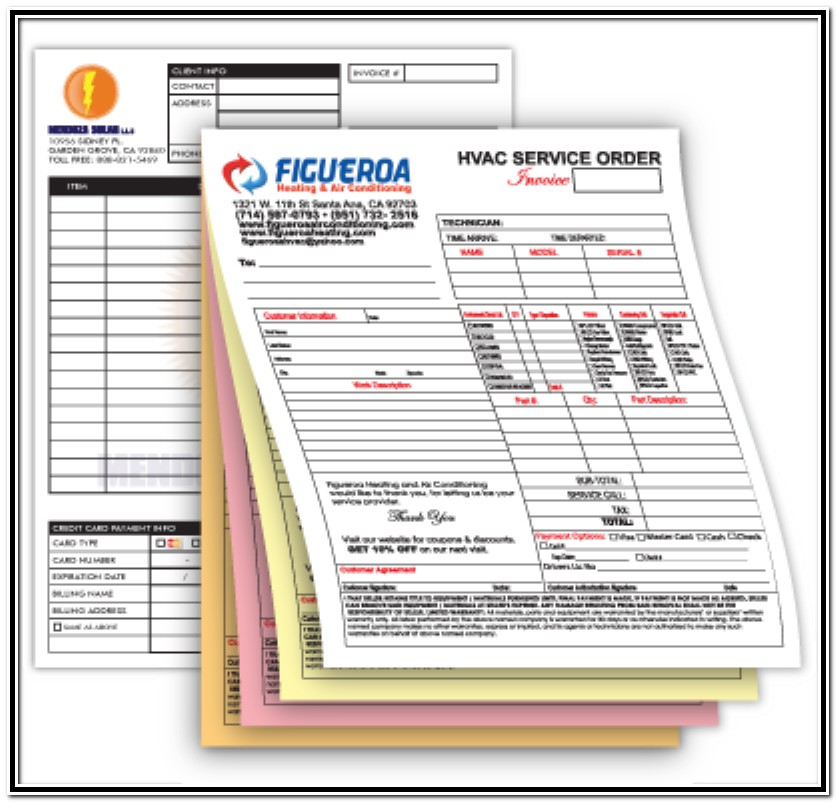 Personalized Carbonless Forms