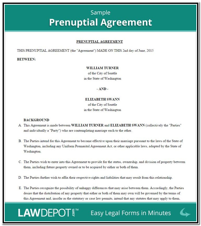 Prenuptial Agreement Format India