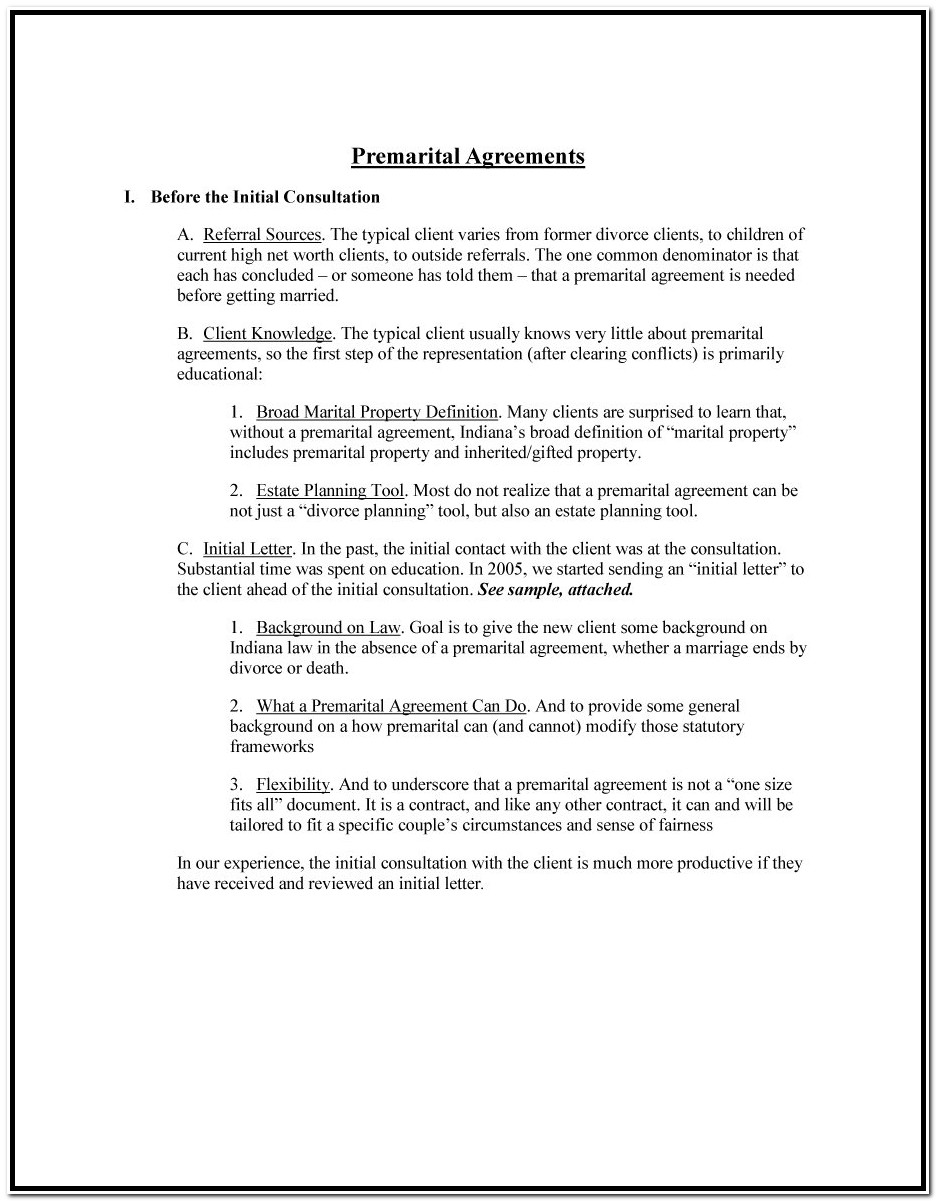 Prenuptial Agreement Format