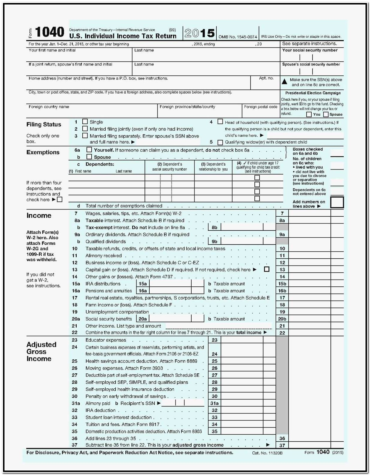 Printable 1099 Form Irs