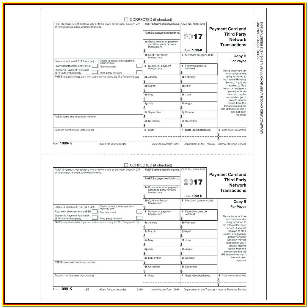 Printable 1099 Tax Form 2019