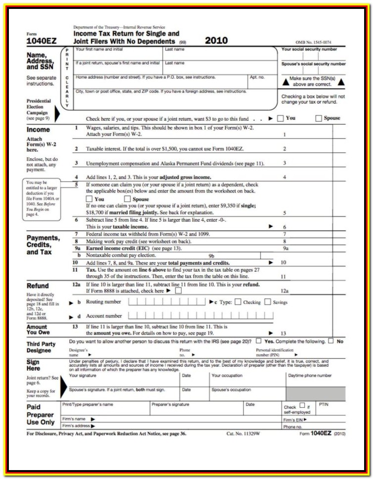 Printable Tax Forms 2015