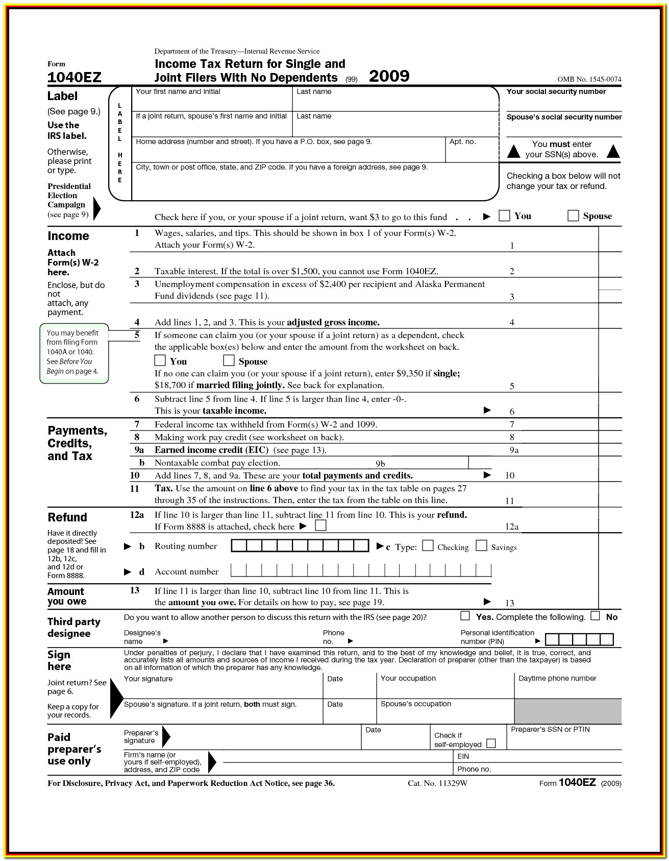 Printable Tax Forms Canada