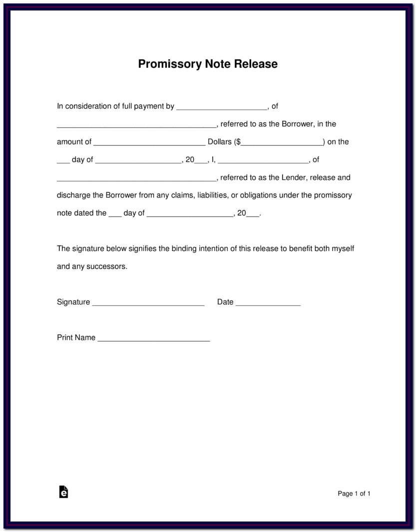 Promissory Note Forms
