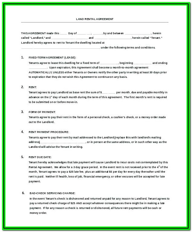 Sublease Agreement Format In Word India