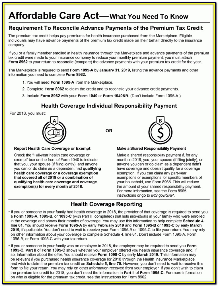 Federal Income Tax Form 1040 For 2018
