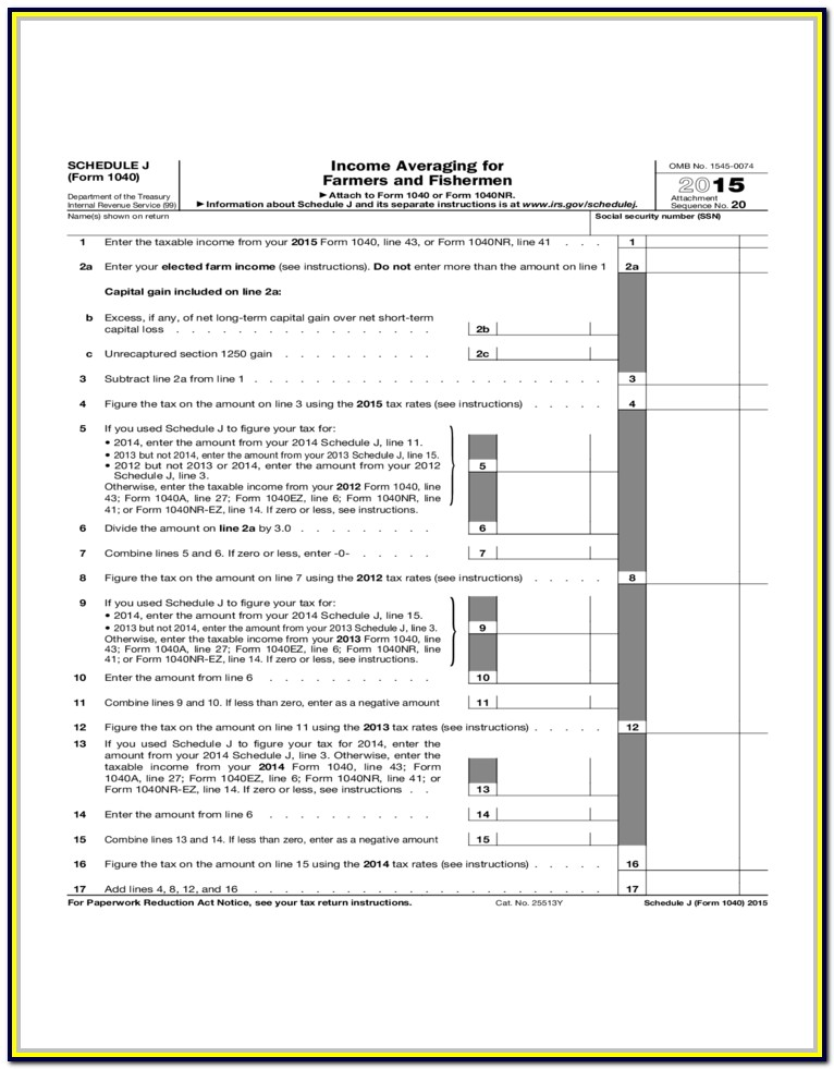 Federal Income Tax Form 1040 Schedule 1