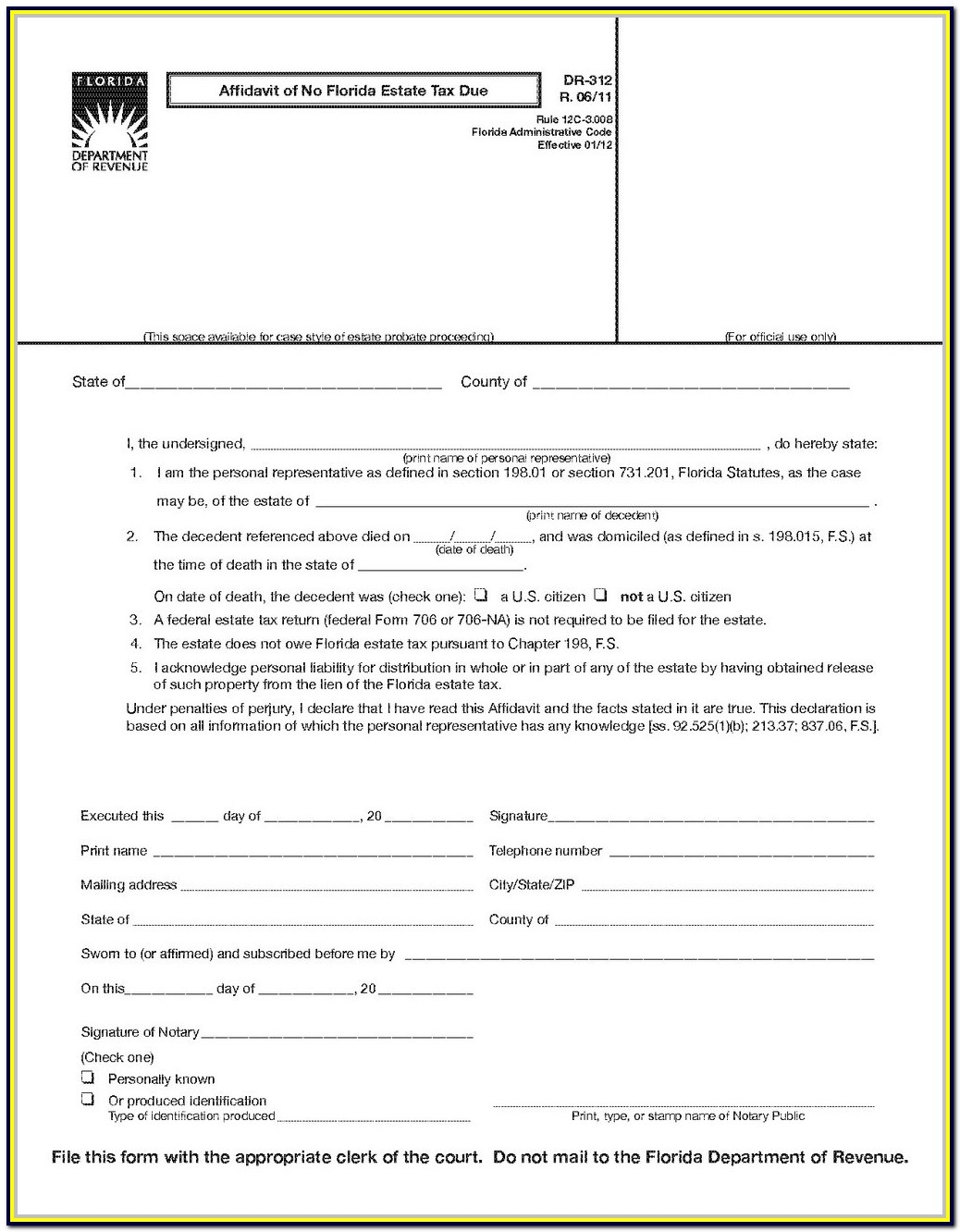 Florida Probate Forms Flssi