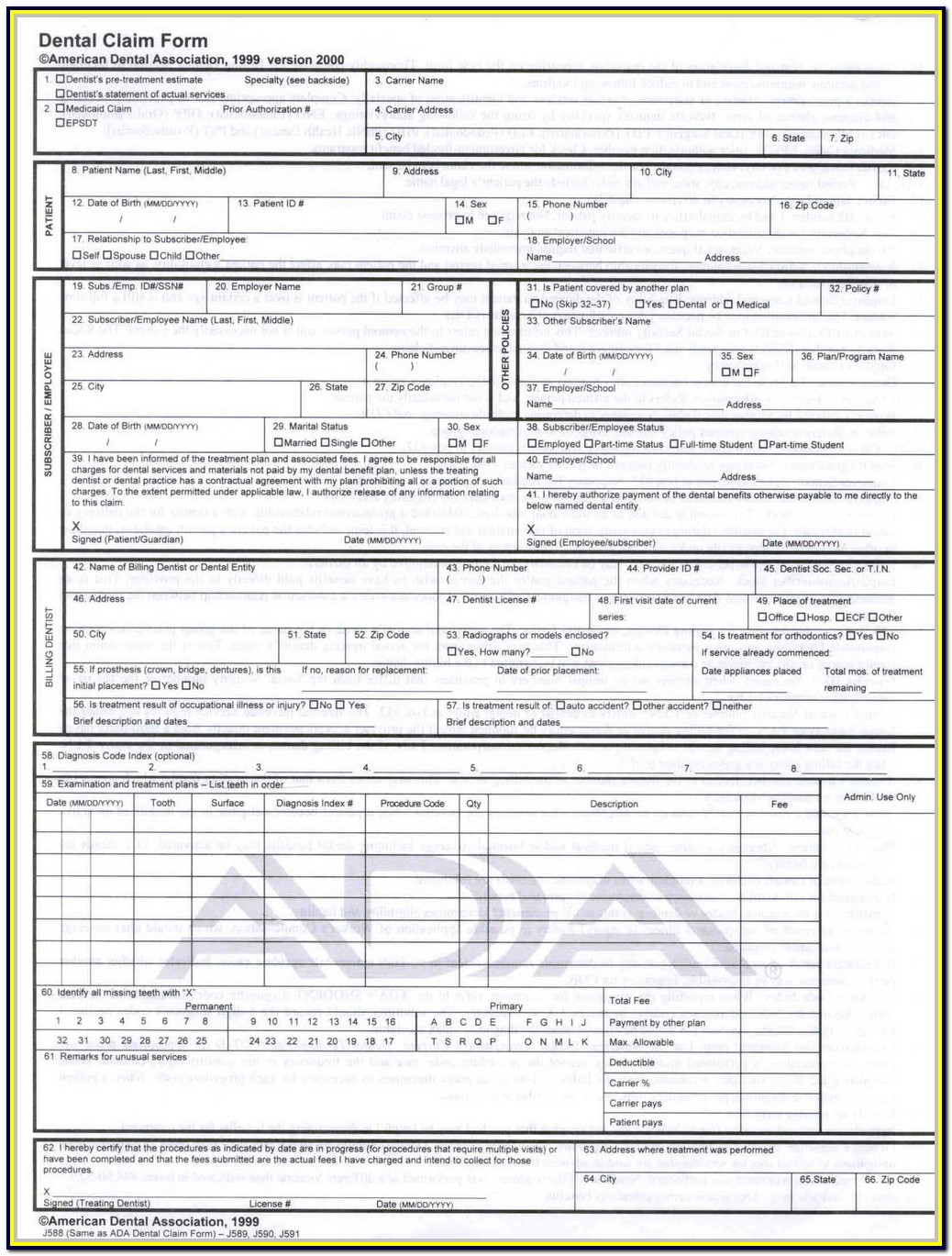 Hcfa 1500 Form Fillable