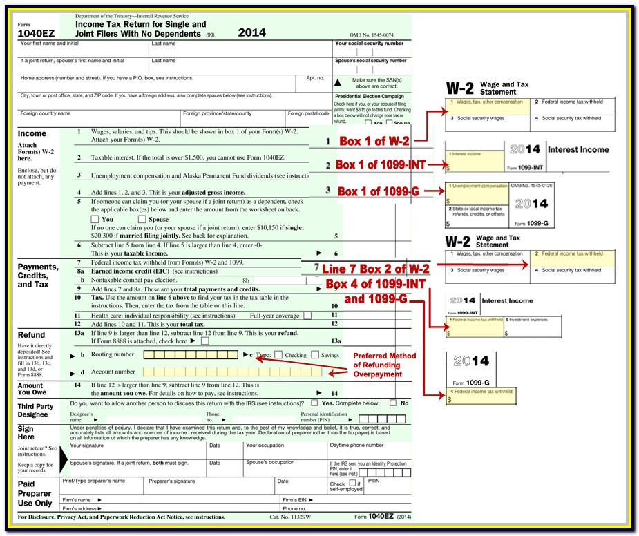Tax Forms 1040a 2015