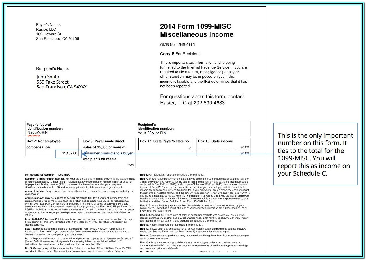 1099 Misc Tax Form 2019