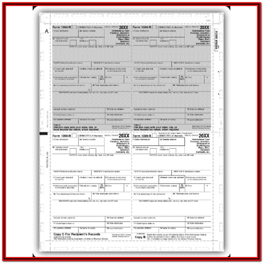 1099 R Tax Form Instructions