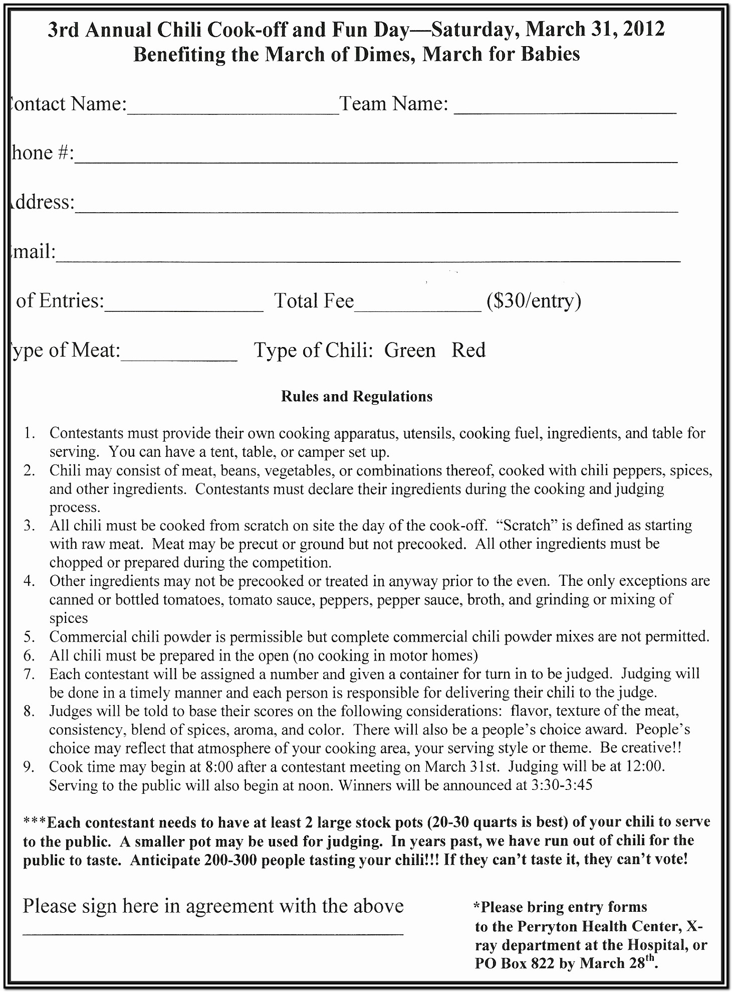5k Registration Form Doc