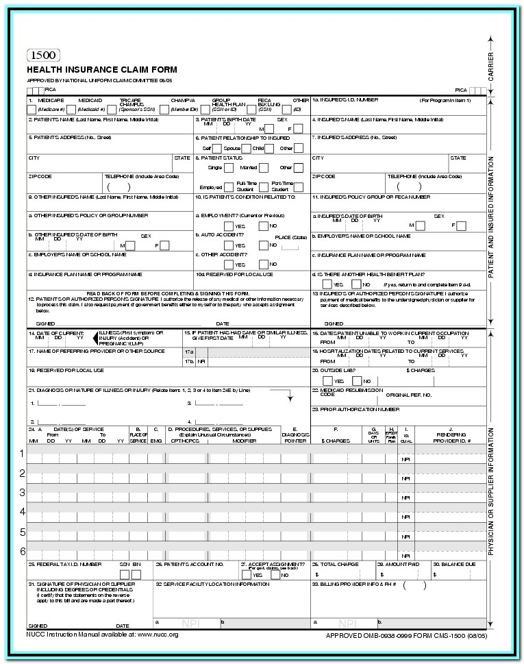 Cms 1500 Forms Free