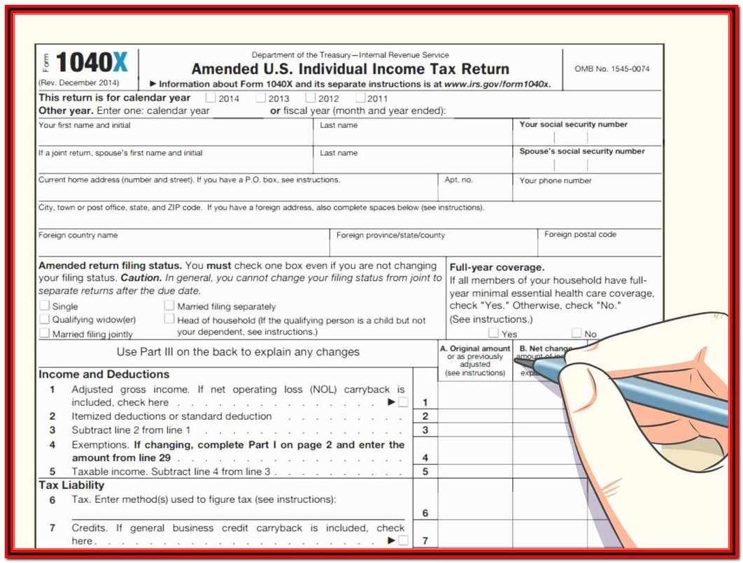 Fed Income Tax Form 1040 Instructions