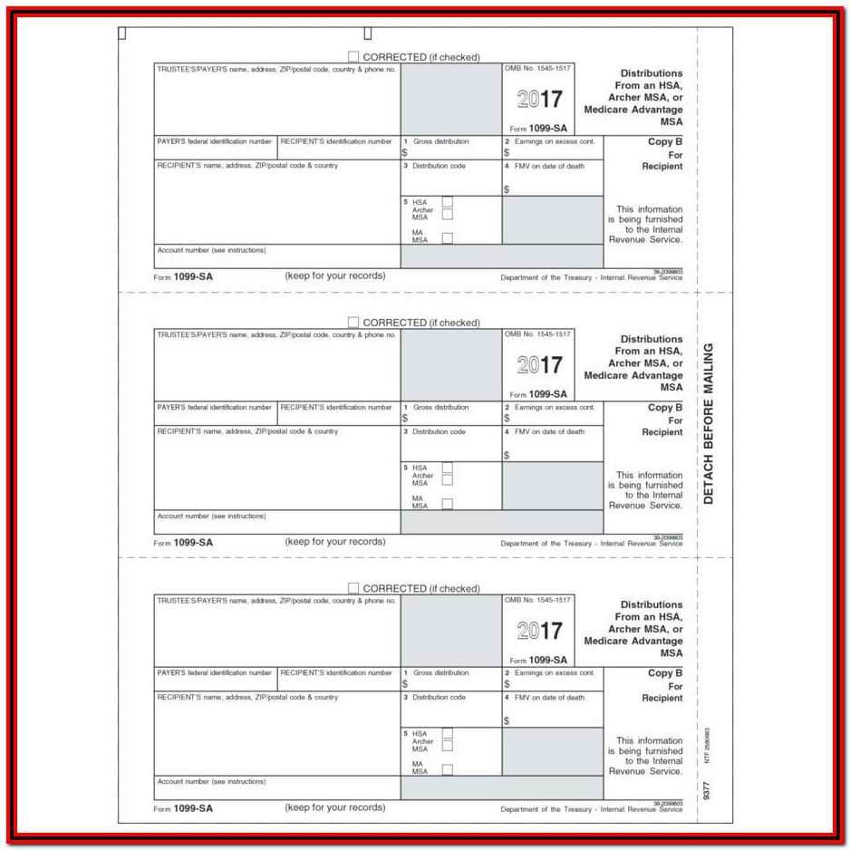 Federal Tax Form 1099 Instructions