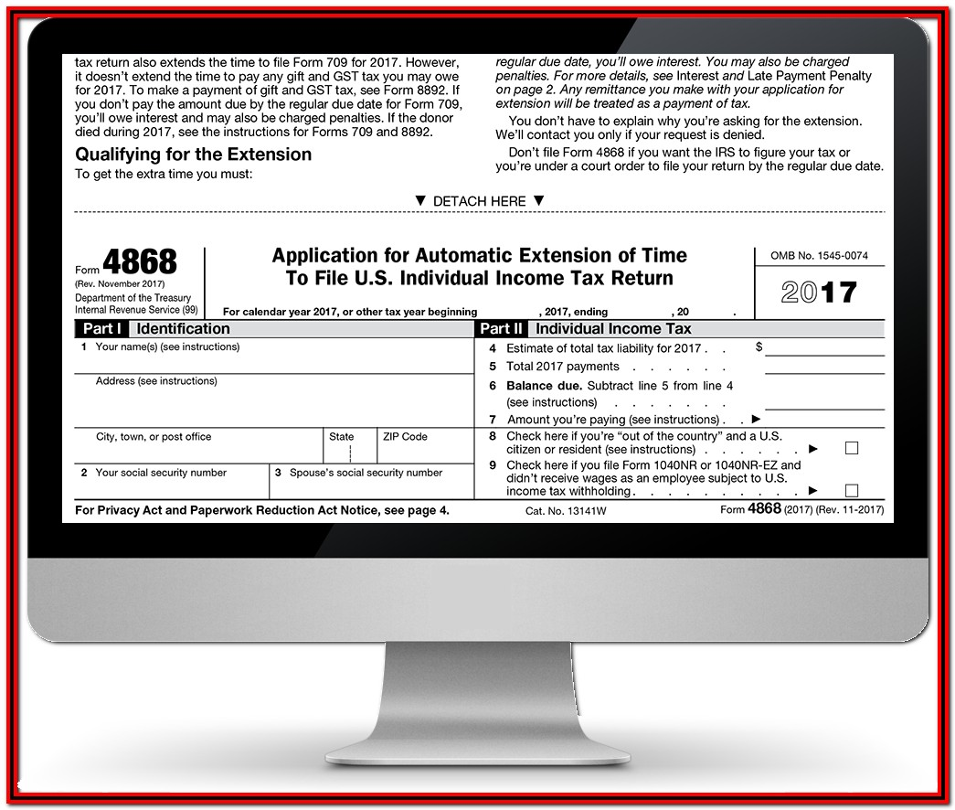File Irs Extension Form 4868 Online