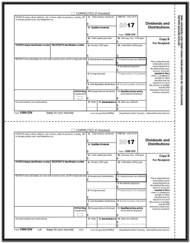 Fillable 1099 Form 2018