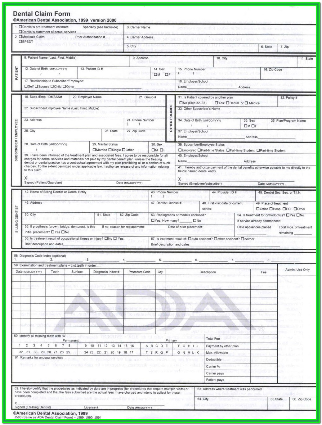 Form Cms 1500 Fillable