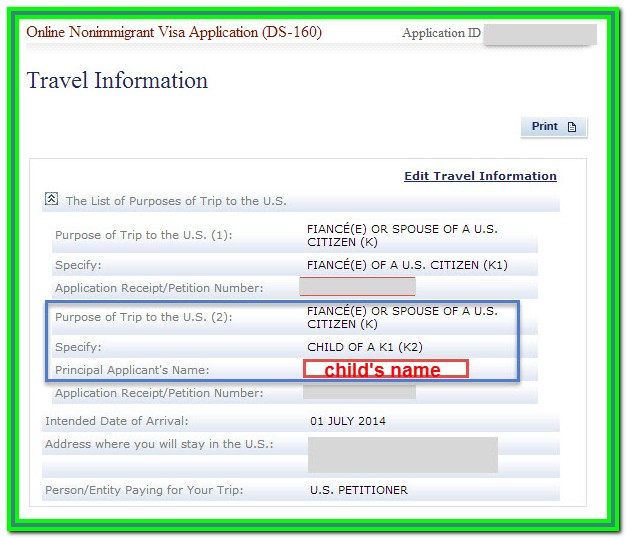 K1 Visa Form Ds 160