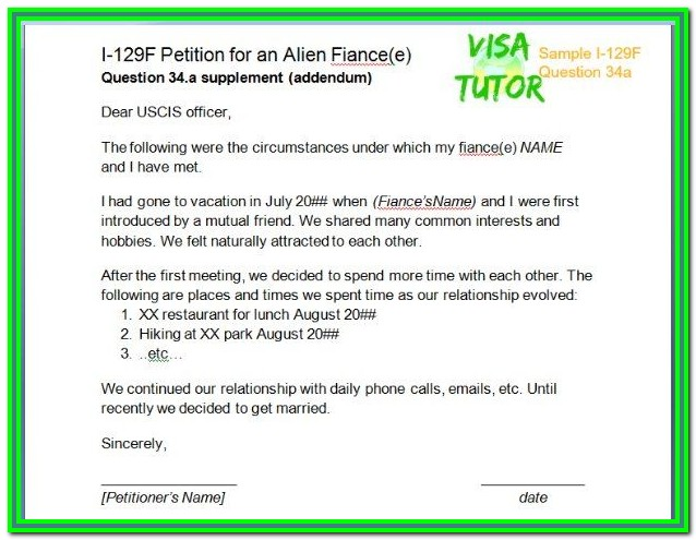 K1 Visa Forms Required