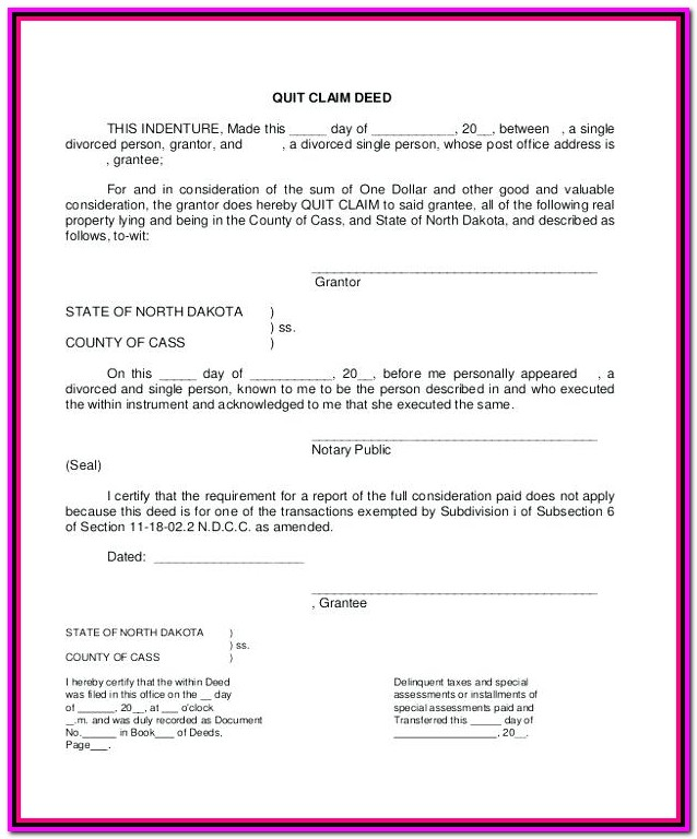 Kent County Michigan Quit Claim Deed Form