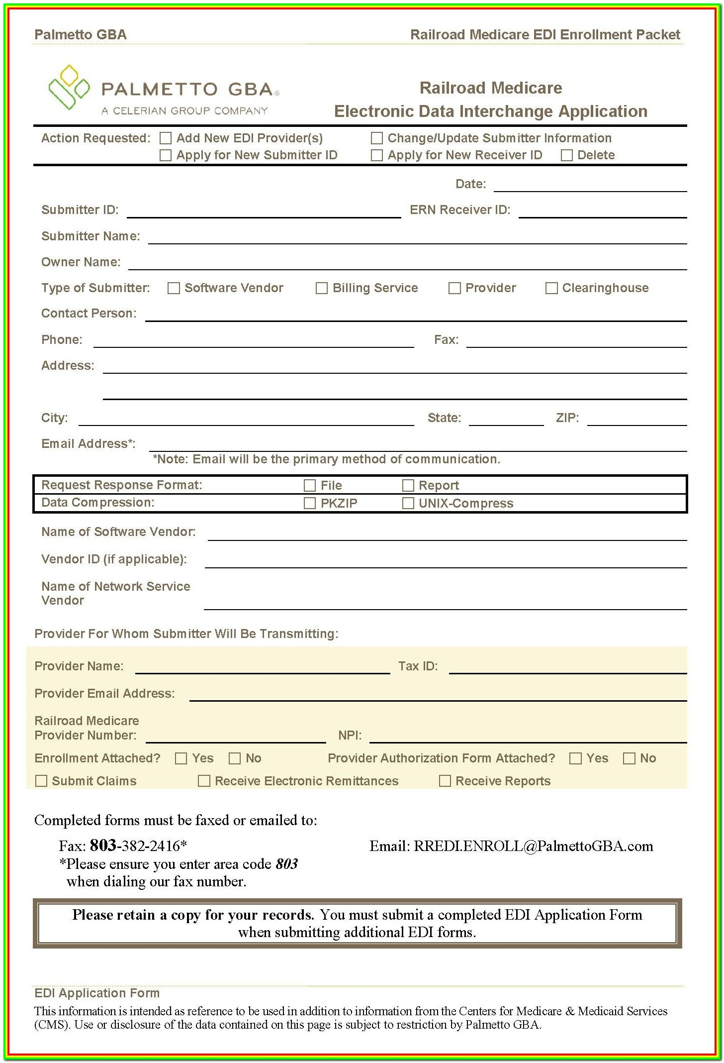 Medicare Part B Application Form Cms L564