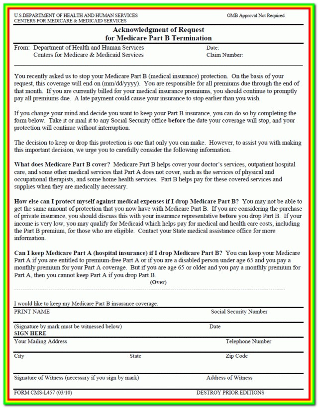 Medicare Part B Reopening Request Form