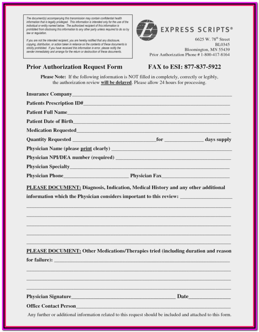 Prior Authorization Form For Medicare Advantage