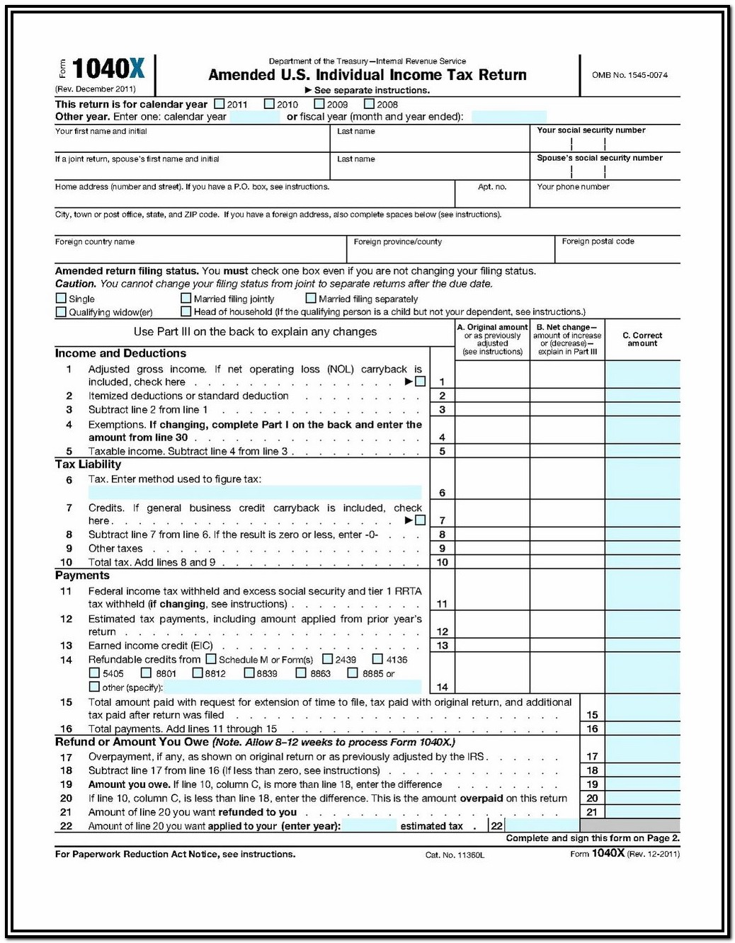 Us Gov Tax Forms