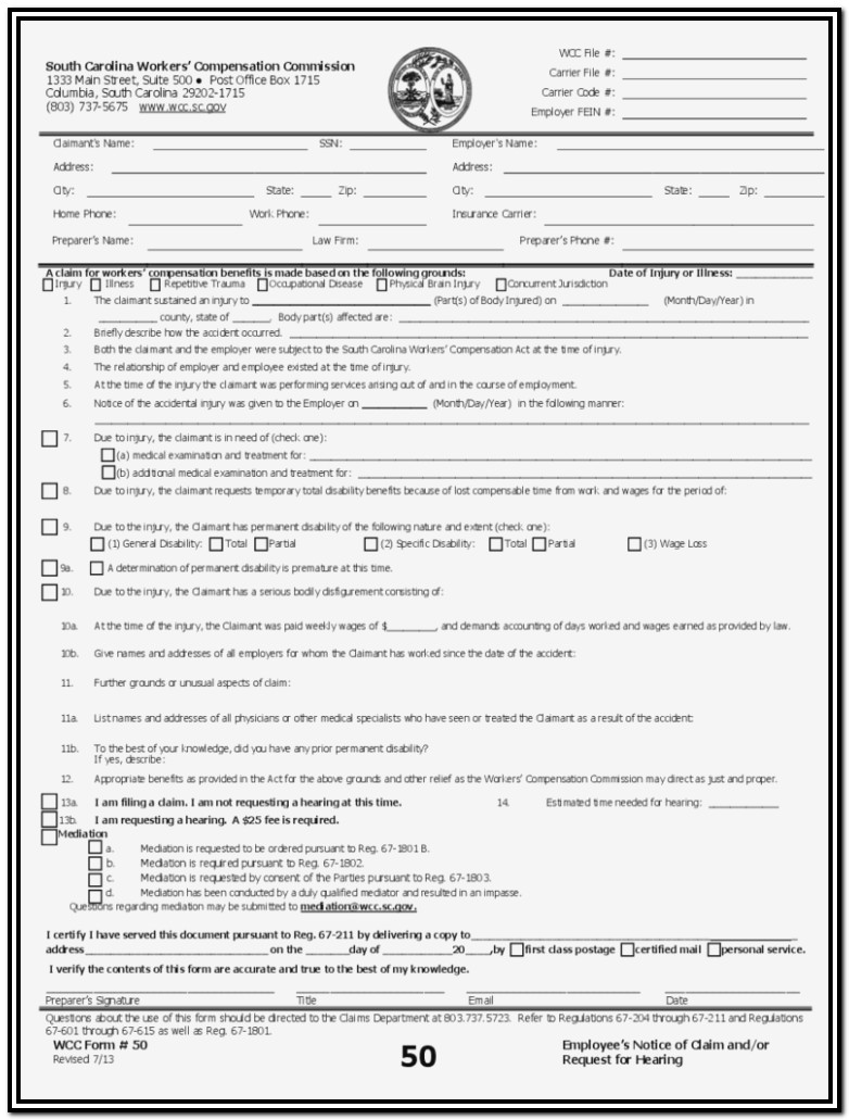 Work Comp Exemption Form
